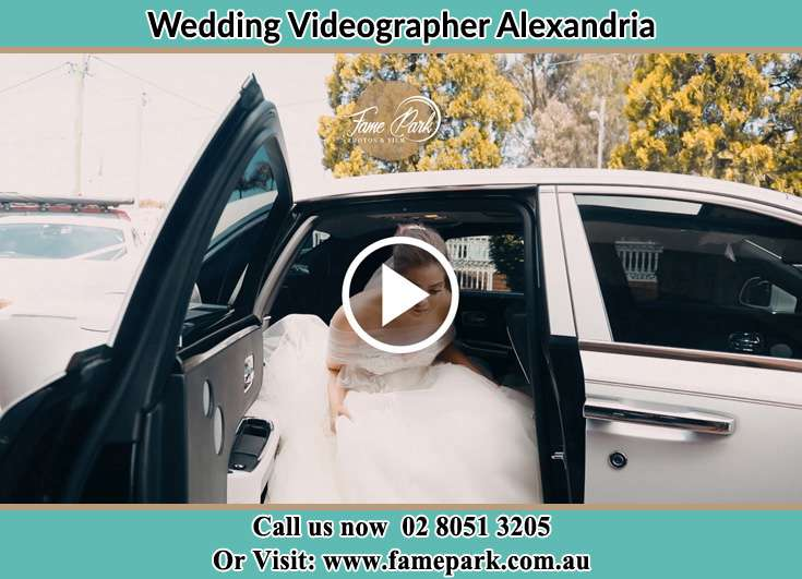 Bride getting out of the bridal car Alexandria NSW 2015