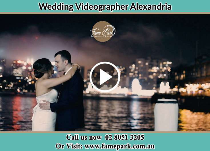 Bride and Groom near the shore Alexandria NSW 2015