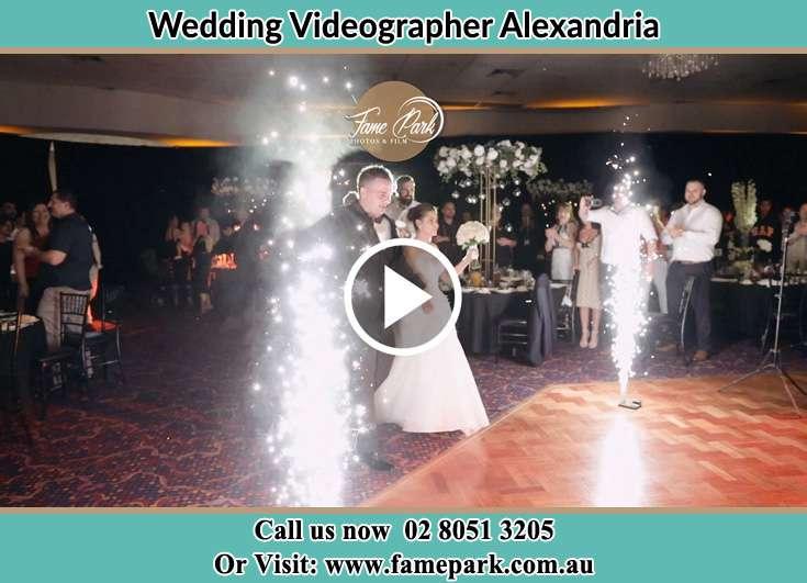 Bride and Groom at the dance floor Alexandria NSW 2015