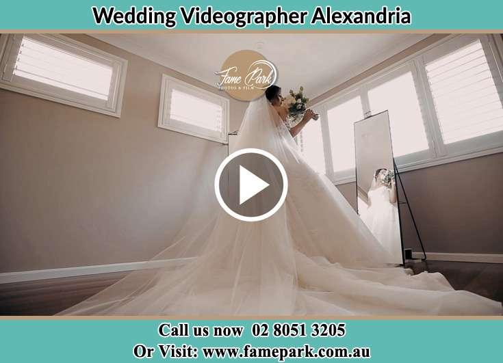 Bride infront of the mirror Alexandria NSW 2015
