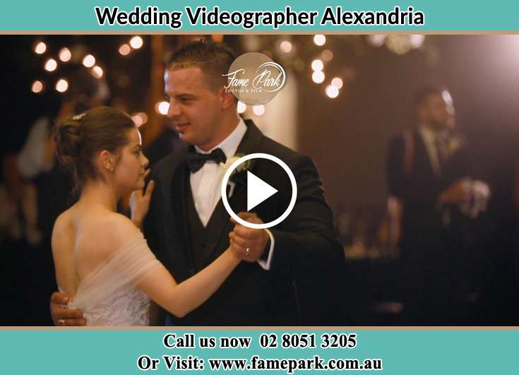 Bride and Groom dance during the ceremony Alexandria NSW 2015