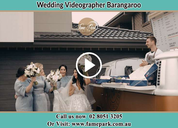 Bride and Groom with their secondary sponsor Barangaroo NSW 2000