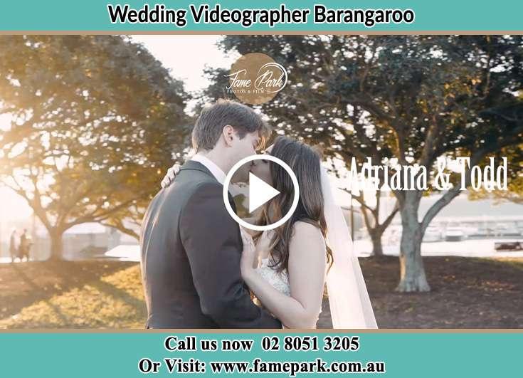 Bride and Groom kissed Barangaroo NSW 2000