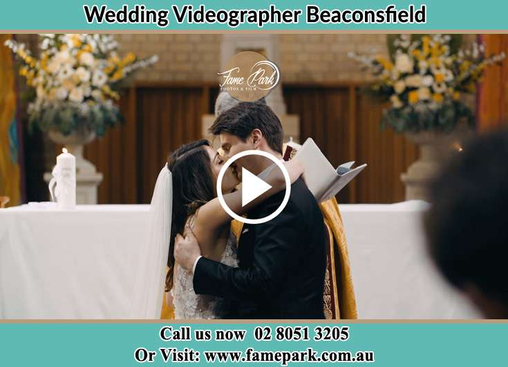 Bride and Groom Kissed at the Altar Beaconsfield NSW 2015