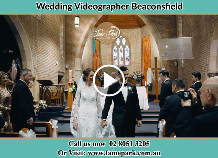 Bride and Groom walking the Aisle Beaconsfield NSW 2015