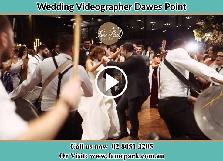Bride and Groom dance at the dance floor Dawes Point NSW 2000