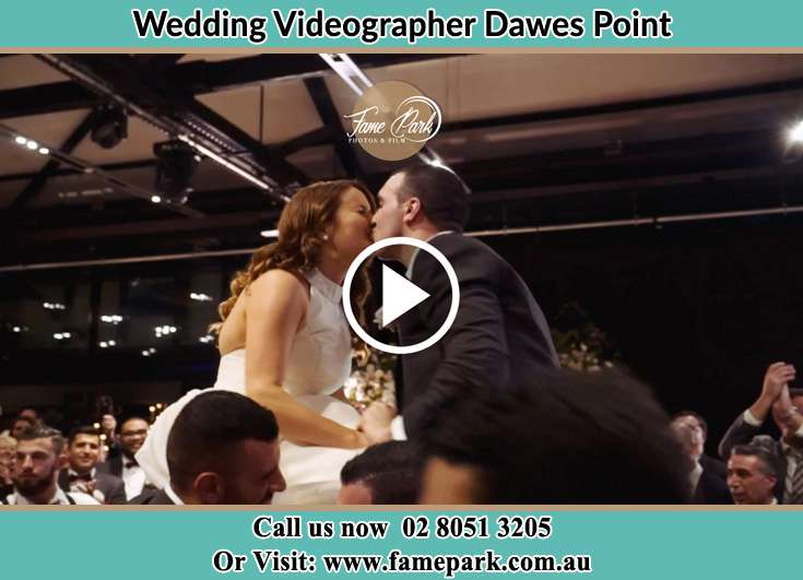 Bride and Groom kissed at the event Dawes Point NSW 2000
