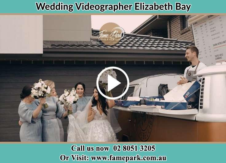 Bride with her bride's maids already prepared Elizabeth Bay NSW 2011