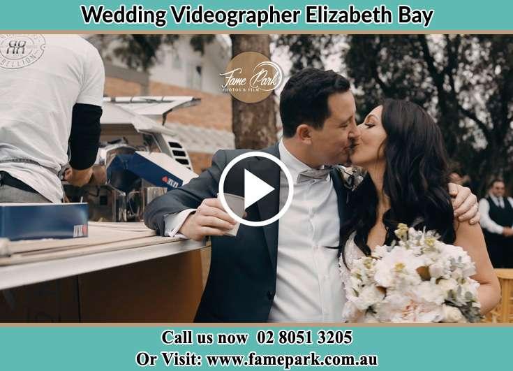 Bride and Groom kissed at the reception Elizabeth Bay 2011