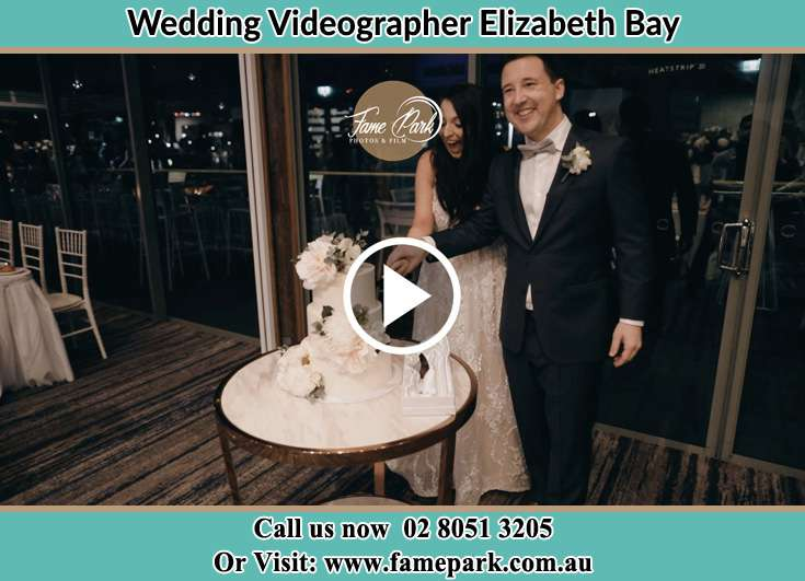Bride and Groom cutting the cake Elizabeth Bay 2011