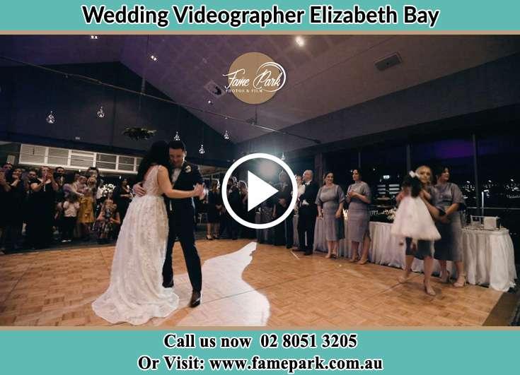 Bride and Groom at the dance floor Elizabeth Bay 2011