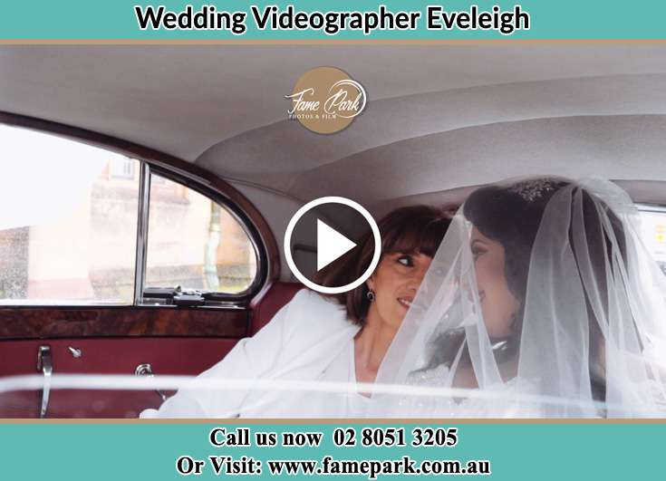 Bride and her mother inside the bridal car Eveleigh NSW 2015
