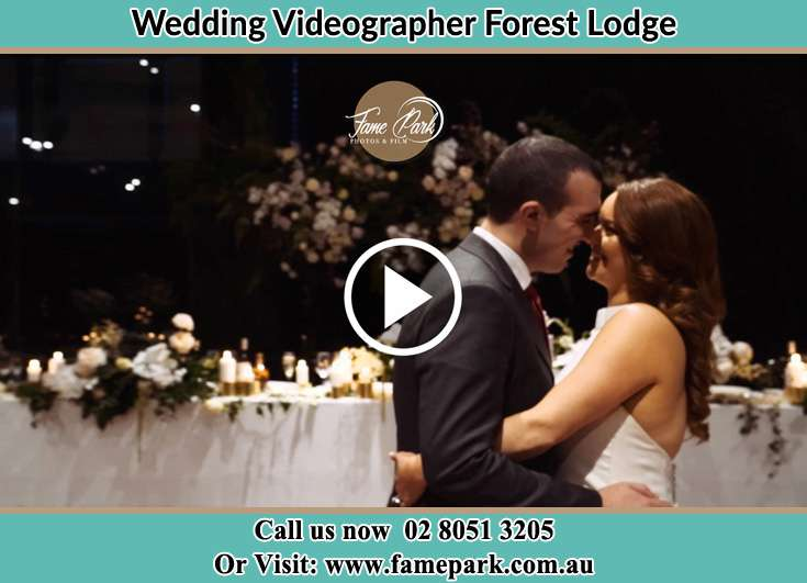 Bride and Groom at the dance floor Forest Lodge NSW 2037