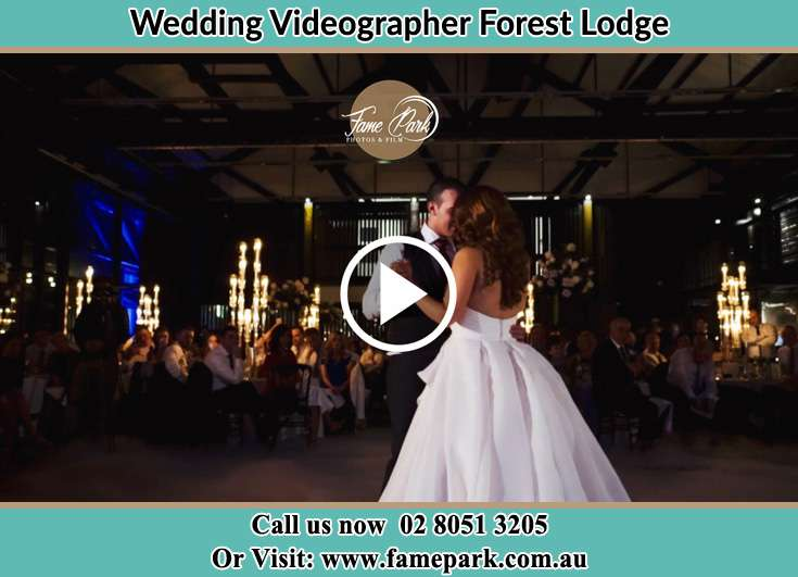 Bride and Groom dance at the dance floor Forest Lodge NSW 2037