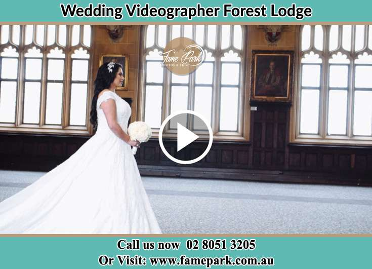 Bride Holding bouquet of flower while walking the aisle Forest Lodge NSW 2037