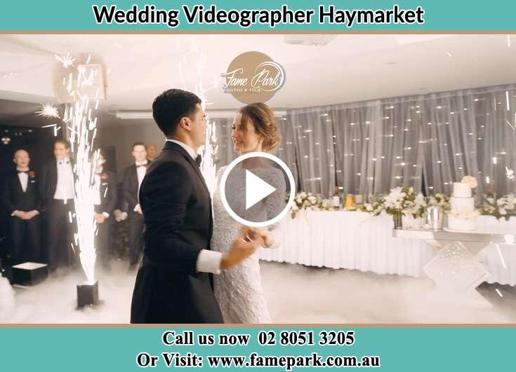 Bride and Groom dance at the dance floor Haymarket NSW 2000