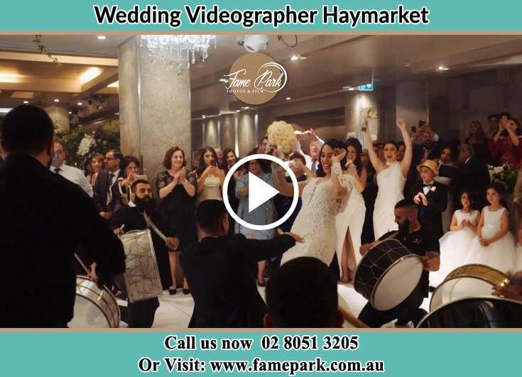 Bride and Groom at the dance floor Haymarket NSW 2000