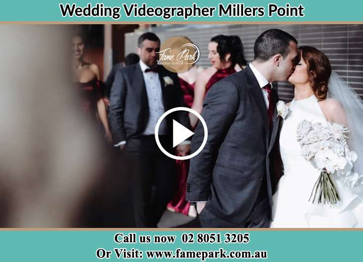 Bride and Groom kissed each other Millers Point NSW 2000
