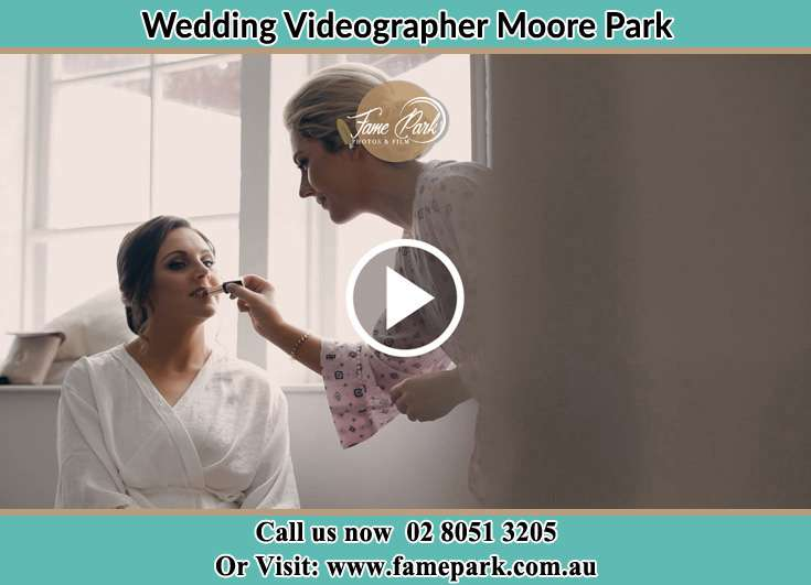 Bride getting her make up Moore Park NSW 2021
