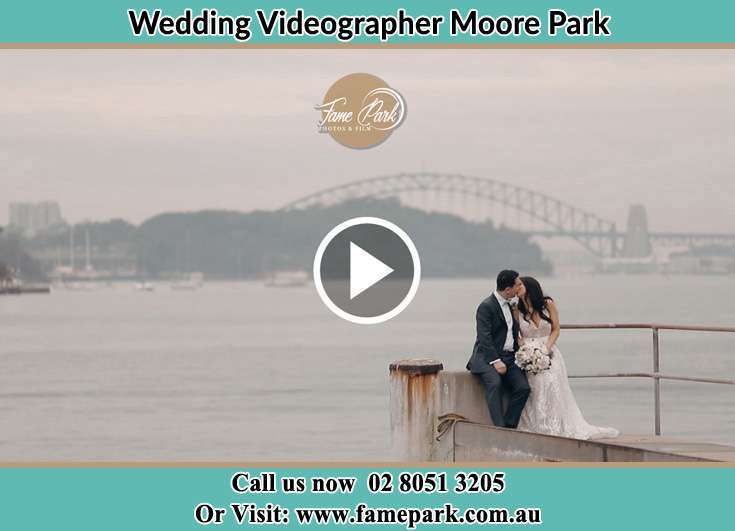 Bride and Groom At the shore Moore Park NSW 2021