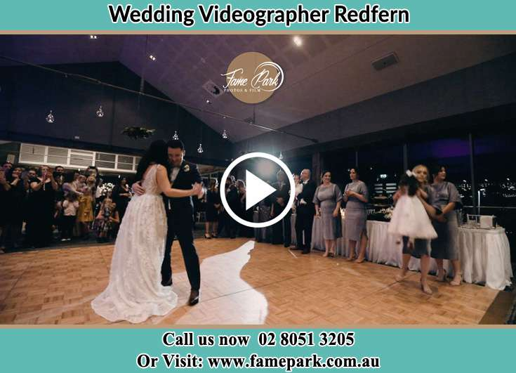 Bride and Groom at the dance floor Redfern NSW 2016