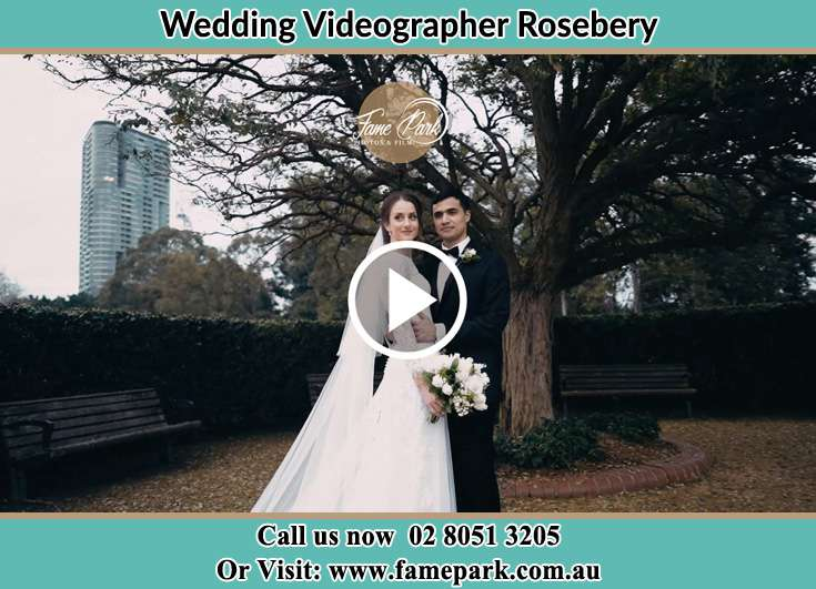 Bride and Groom at the garden Rosebery NSW 2018
