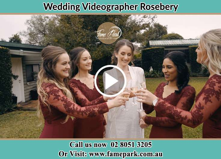 Bride and her brides maid making a toast Rosebery NSW 2018