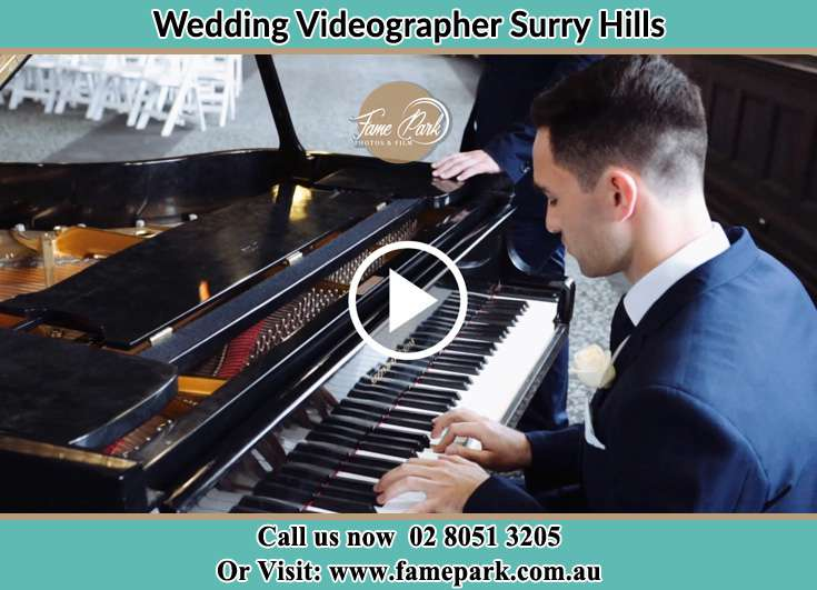 Groom playing piano Surry Hills NSW 2010