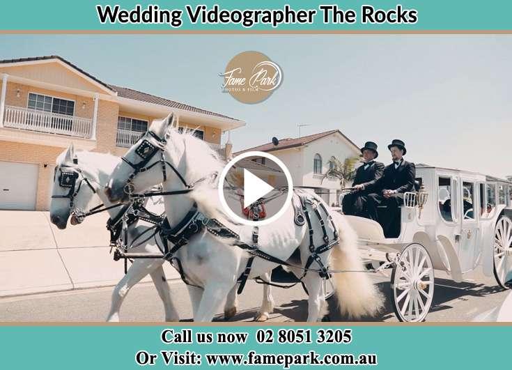 Bride wedding carriage The Rocks NSW 2000