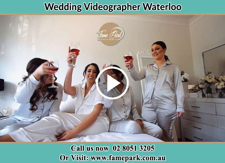 Bride and her bride's maids making a toast Waterloo NSW 2017