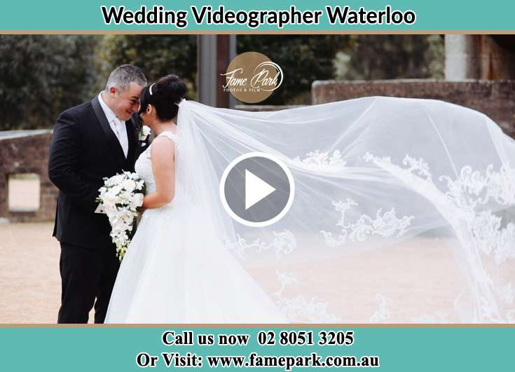 Bride and her father in front of the church Waterloo NSW 2017