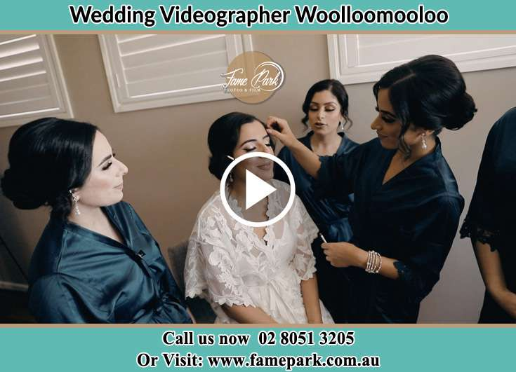 Bride's hair and make up being fixed Woolloomooloo NSW 2011