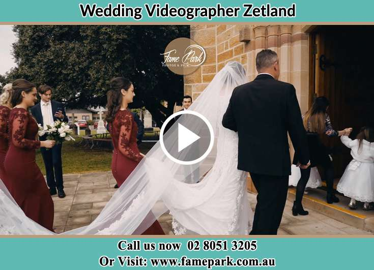 The Bride being escorted to the churh Zetland NSW 2017