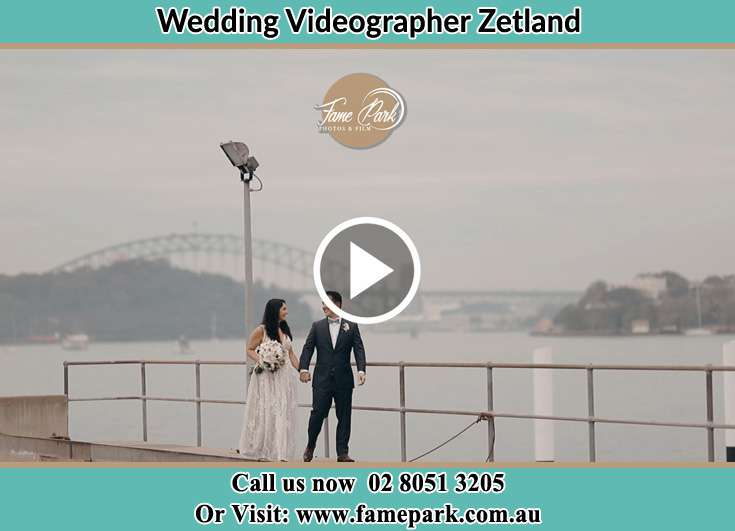 The Groom and the Bride walking near the river Zetland NSW 2017