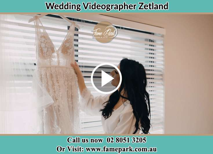 The Bride checking on her bridal gown Zetland NSW 2017