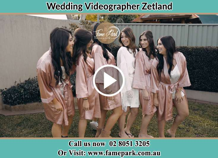 The bride chatting with her bridesmaids Zetland NSW 2017